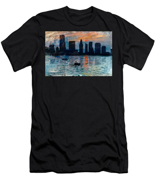 Miami Skyline 7 Men's T-Shirt (Slim Fit) by Andrew Fare