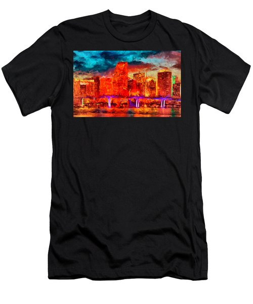 Miami Skyline Men's T-Shirt (Athletic Fit)