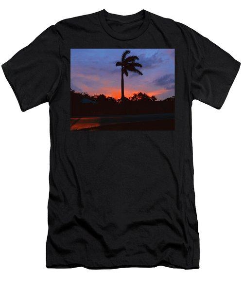 Miami Sunset Men's T-Shirt (Athletic Fit)