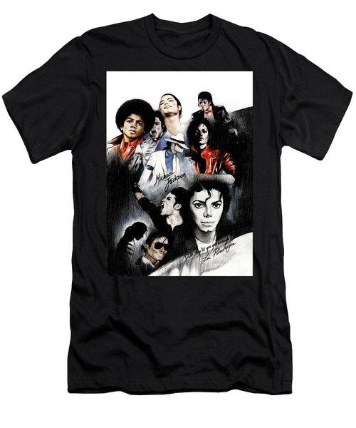 Michael Jackson - King Of Pop Men's T-Shirt (Slim Fit)