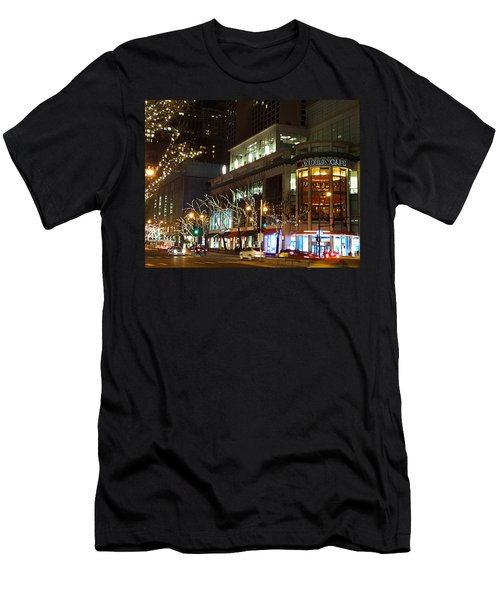 Michigan Avenue  Men's T-Shirt (Slim Fit) by Elizabeth Coats