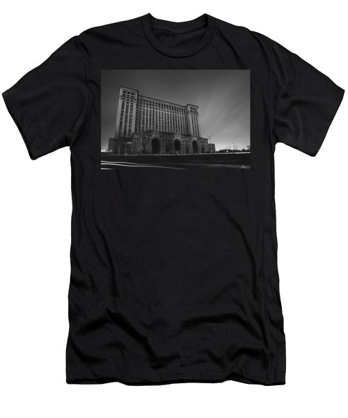 Michigan Central Station At Midnight Men's T-Shirt (Athletic Fit)