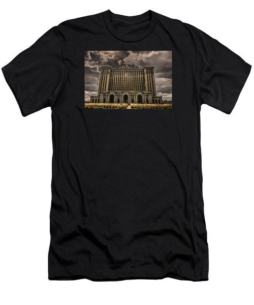 Michigan Central Station Men's T-Shirt (Athletic Fit)