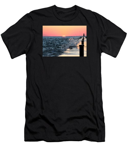 Michigan Summer Sunset Men's T-Shirt (Athletic Fit)