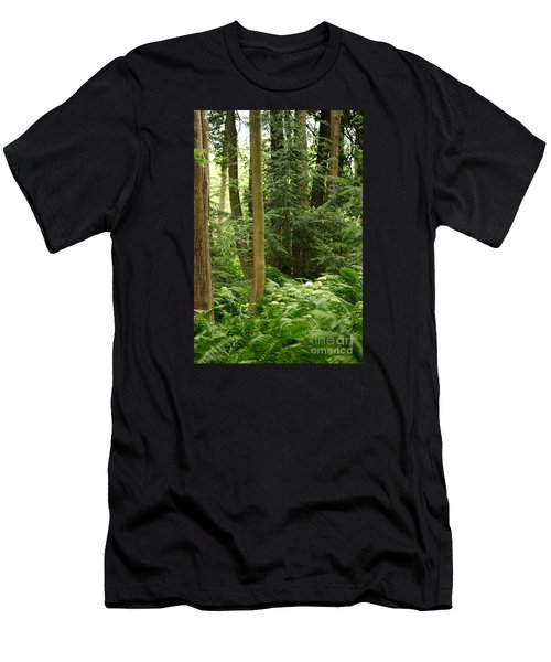 Men's T-Shirt (Athletic Fit) featuring the photograph Michigan Woods 3 by Linda Shafer