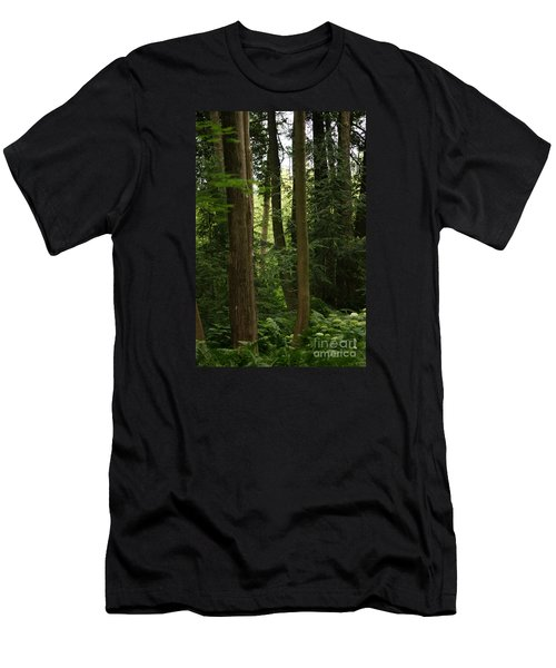 Men's T-Shirt (Athletic Fit) featuring the photograph Michigan Woods by Linda Shafer