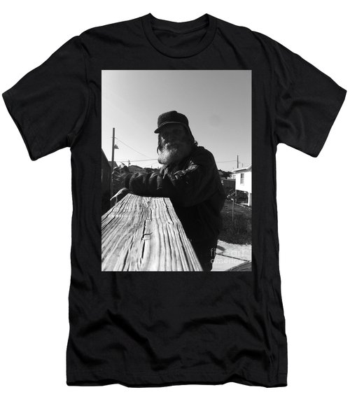 Mick Lives Across The Street Not In The Streets Men's T-Shirt (Slim Fit)