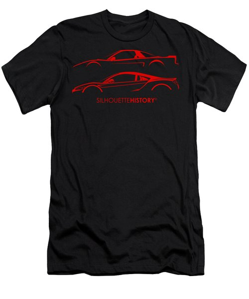 Mid-engine Japanese Silhouettehistory Men's T-Shirt (Athletic Fit)