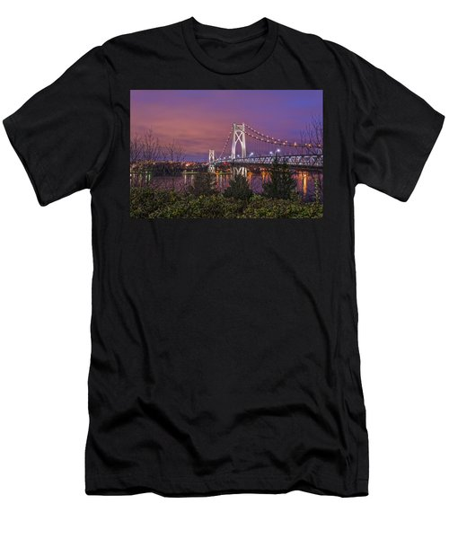 Mid Hudson Bridge At Twilight Men's T-Shirt (Athletic Fit)