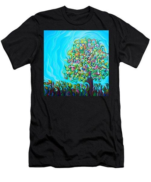 Mid-summer Tree Breath Men's T-Shirt (Athletic Fit)