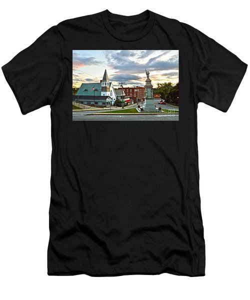 Middlebury Vermont At Sunset Men's T-Shirt (Slim Fit) by Catherine Sherman