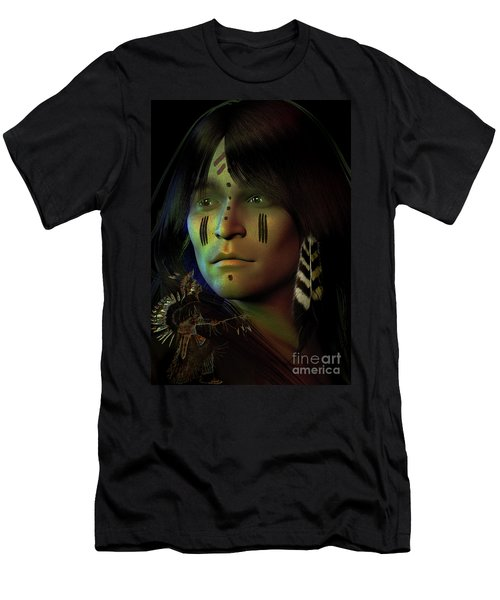 Men's T-Shirt (Slim Fit) featuring the digital art Midnight Dreaming by Shadowlea Is