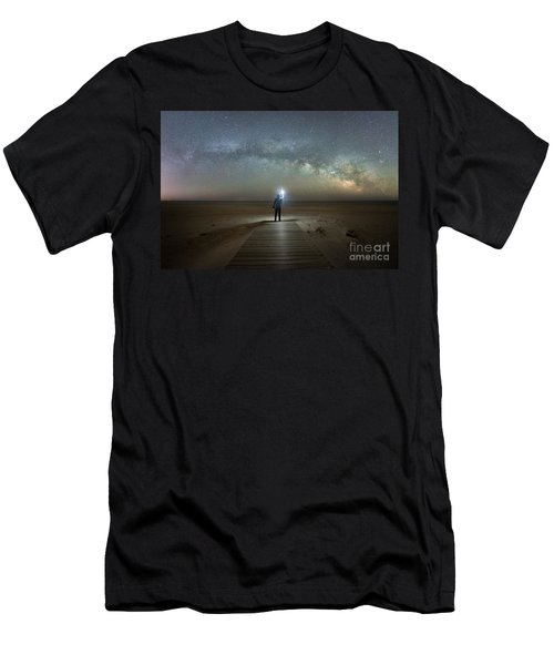 Midnight Explorer At Assateague Island Men's T-Shirt (Athletic Fit)