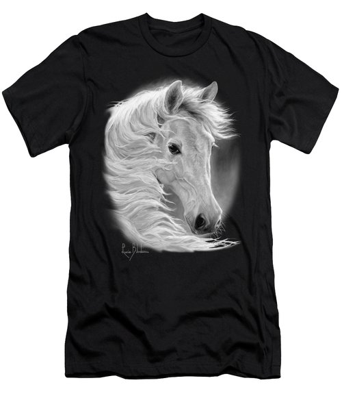 Midnight Glow - Black And White Men's T-Shirt (Athletic Fit)