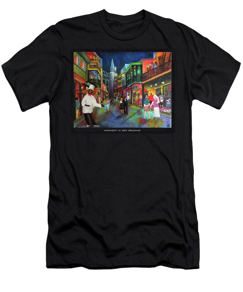 Midnight In New Orleans Men's T-Shirt (Athletic Fit)
