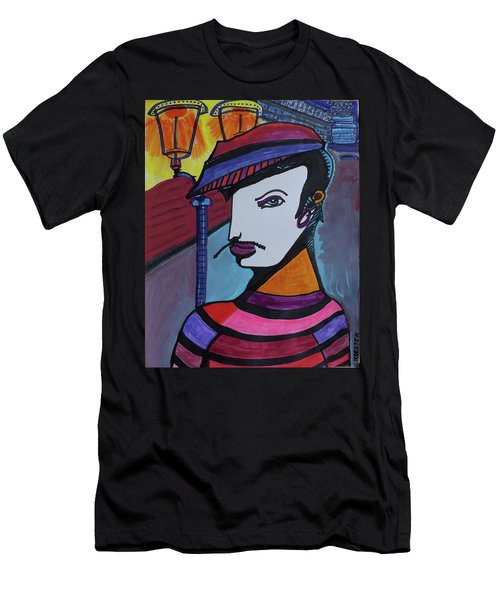Midnight Mime Men's T-Shirt (Athletic Fit)