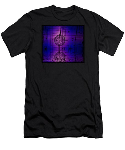 Men's T-Shirt (Slim Fit) featuring the digital art Midnight Reeds by Mario Carini