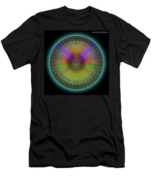 Men's T-Shirt (Athletic Fit) featuring the digital art Midnight Sunset by Visual Artist Frank Bonilla