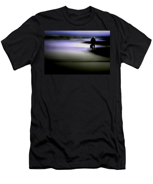 Men's T-Shirt (Slim Fit) featuring the photograph Midnight Wanderer by Gray  Artus