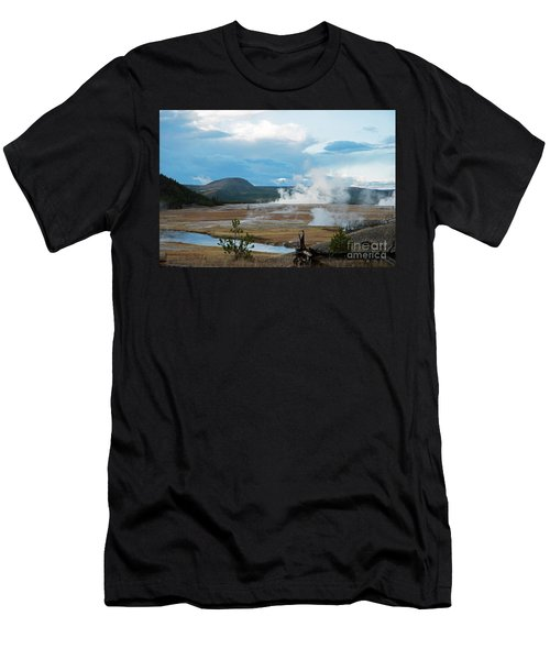 Midway Geyser Area Men's T-Shirt (Athletic Fit)