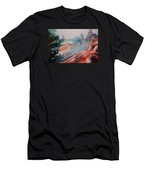 Mighty Canyon Men's T-Shirt (Slim Fit) by Becky Chappell