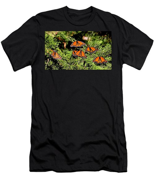 Men's T-Shirt (Athletic Fit) featuring the photograph Migrating Monarchs by AJ Schibig