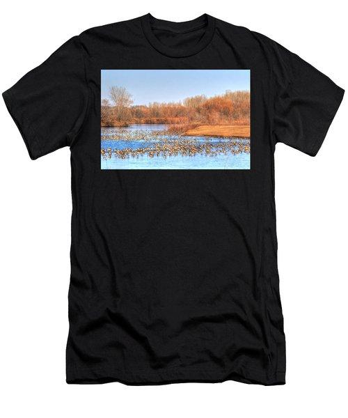 Migration Break On Ice Men's T-Shirt (Athletic Fit)