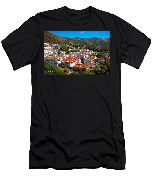 Men's T-Shirt (Athletic Fit) featuring the photograph Mijas Village In Spain by Jenny Rainbow