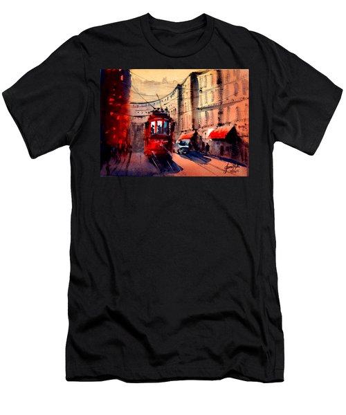 Milan Tram 2 Men's T-Shirt (Athletic Fit)