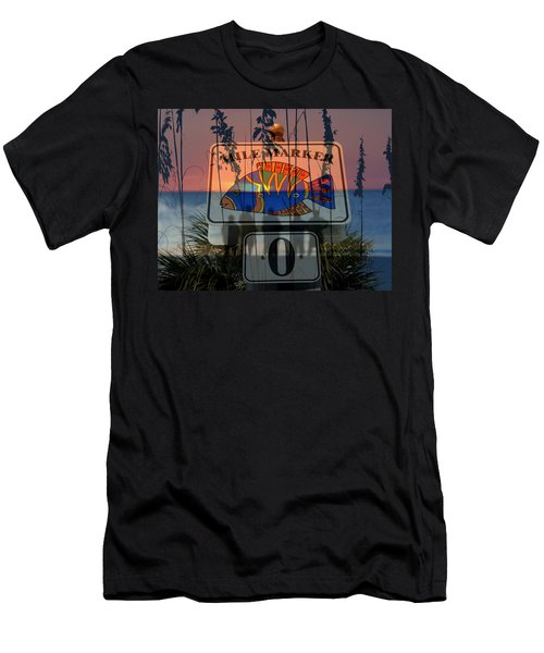 Men's T-Shirt (Slim Fit) featuring the photograph Mile Marker 0 Sunset by David Lee Thompson