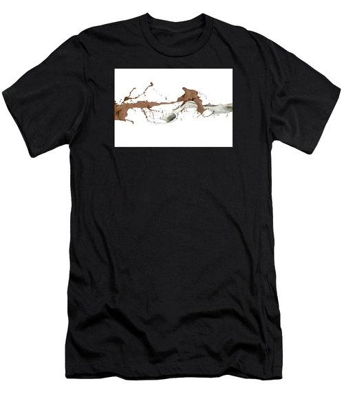 Milk And Liquid Chocolate Splash Men's T-Shirt (Athletic Fit)
