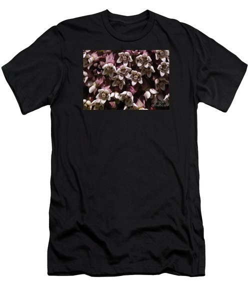 Men's T-Shirt (Slim Fit) featuring the photograph Milkweed Florets by Randy Bodkins
