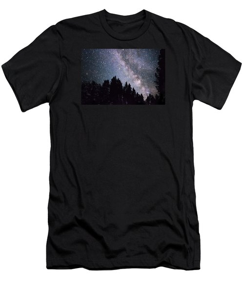 Milky Way Above The Bighorns Men's T-Shirt (Athletic Fit)