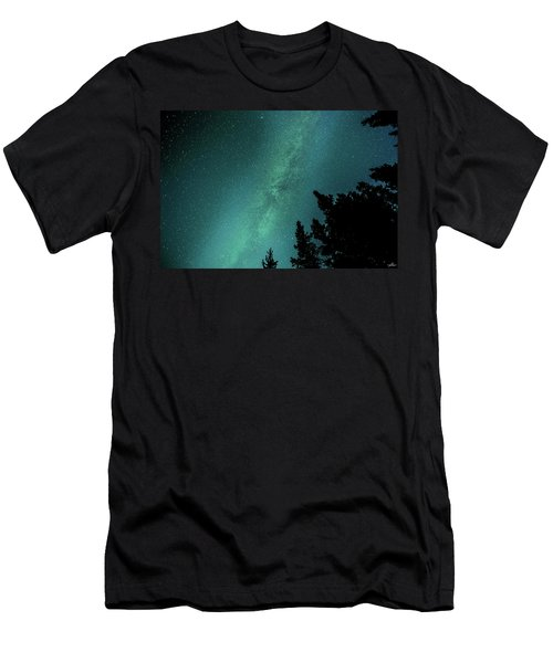 Milky Way Above The Trees Men's T-Shirt (Athletic Fit)