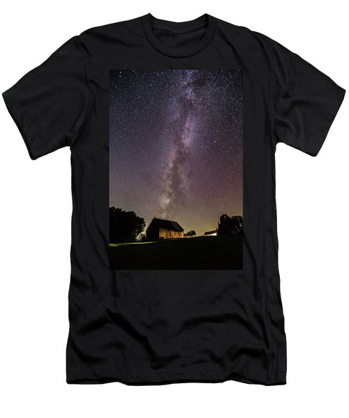 Milky Way And Barn Men's T-Shirt (Athletic Fit)
