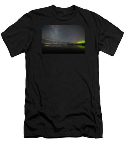 Milky Way And Northern Lights Men's T-Shirt (Athletic Fit)