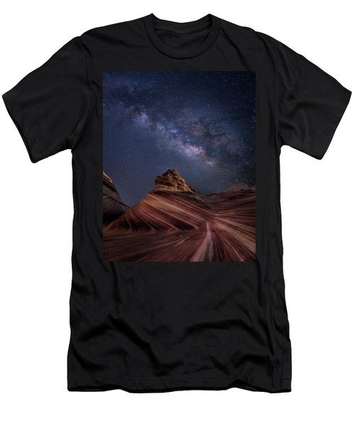 Milky Way And The Wave Men's T-Shirt (Athletic Fit)