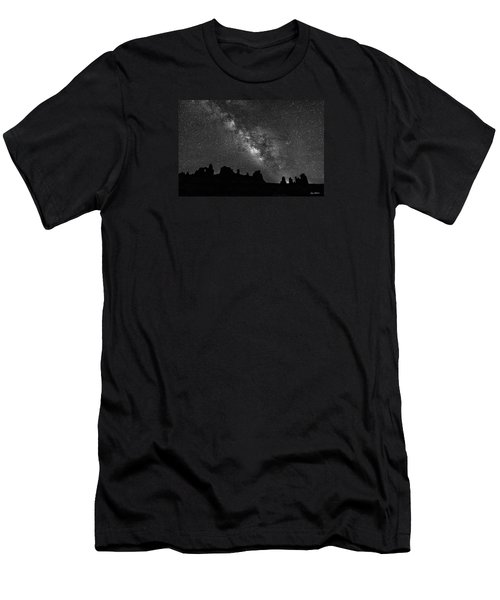Milky Way At The Windows Men's T-Shirt (Athletic Fit)
