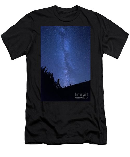 Milky Way Galaxy Men's T-Shirt (Athletic Fit)