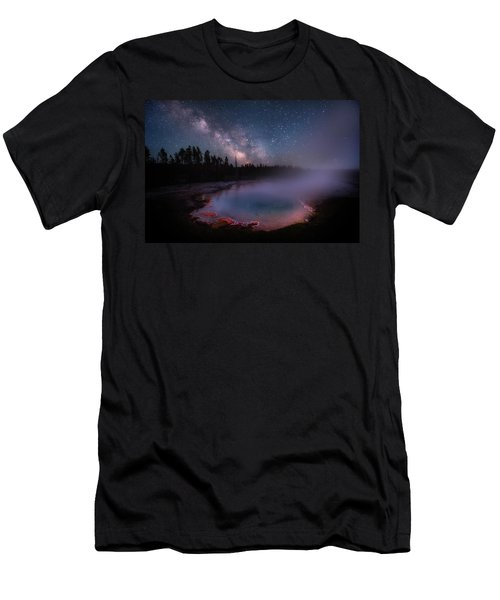 Milky Way In Yellowstone Men's T-Shirt (Athletic Fit)