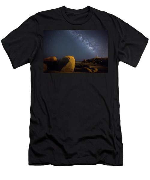 Milky Way On The Beach Men's T-Shirt (Athletic Fit)