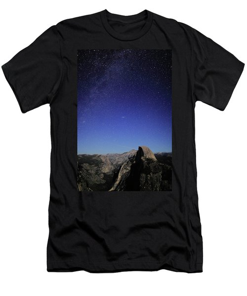 Milky Way Over Half Dome Men's T-Shirt (Athletic Fit)