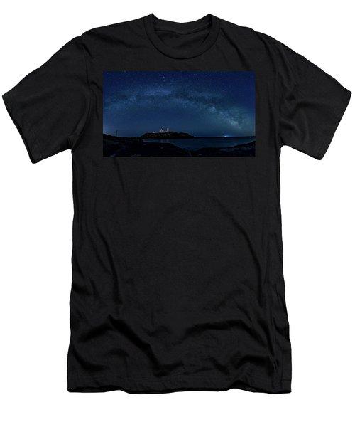 Milky Way Over Nubble Men's T-Shirt (Athletic Fit)