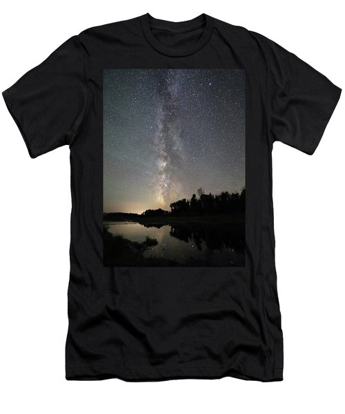 Milky Way Over Schwabacher's Landing Men's T-Shirt (Athletic Fit)