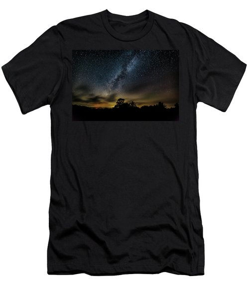 Milky Way Over The Blue Ridge Men's T-Shirt (Athletic Fit)