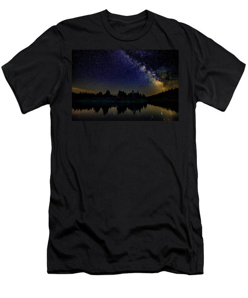 Milky Way Over The Deschutes River - 2 Men's T-Shirt (Athletic Fit)