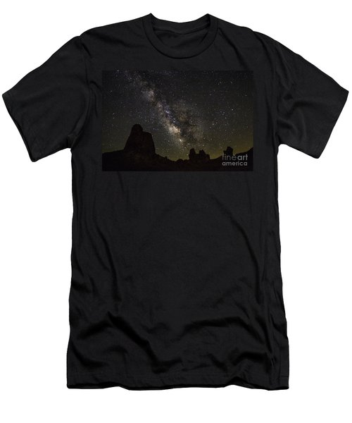 Milky Way Over Trona Pinnacles Men's T-Shirt (Athletic Fit)