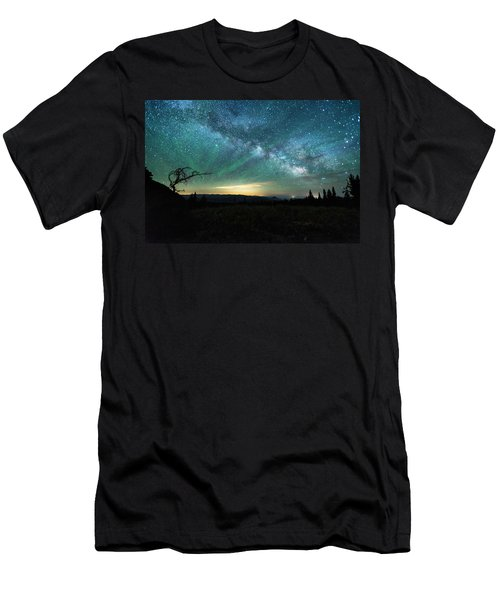 Milky Way Rising Men's T-Shirt (Athletic Fit)