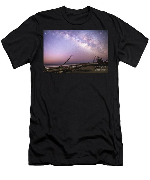 Milky Way Roots Men's T-Shirt (Slim Fit) by Robert Loe