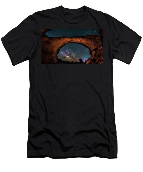 Milky Way Under The Arch Men's T-Shirt (Athletic Fit)